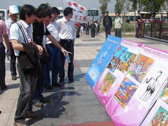 射阳丹顶鹤文化艺术节儿童画展